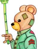 un paraguas del ingenio del oso stock de ilustración
