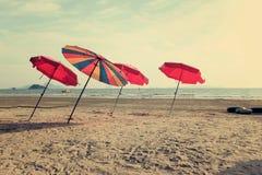 Un parapluie de plage Images stock