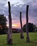 Un parc dans Geldrop Images stock