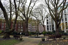 Un parco circolare inglese a Londra Immagine Stock Libera da Diritti