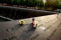 Un parco di 911 memoria dopo pioggia Fotografie Stock Libere da Diritti