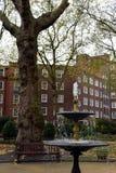 Un parque circular inglés en Londres durante otoño Imagenes de archivo