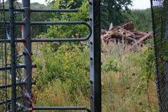 Un parque de atracciones abandonado Fotos de archivo