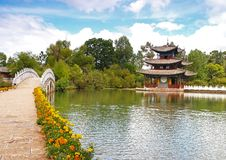 Un parque del paisaje en Lijiang China #3 imagenes de archivo