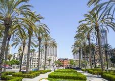 Un parque verde en San Diego - SAN DIEGO - CALIFORNIA céntricos - 21 de abril de 2017 Imágenes de archivo libres de regalías