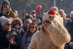 Un participant au festival international du ` de Surva de ` de jeux de mascarade Image libre de droits