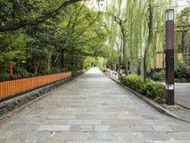Un paseo con Gion viejo Imagen de archivo libre de regalías