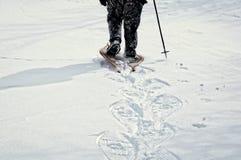 Un paseo del invierno en la nieve Foto de archivo libre de regalías