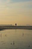 Un paseo frío Fotos de archivo