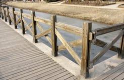 Un paseo marítimo de madera del tablón Fotografía de archivo libre de regalías