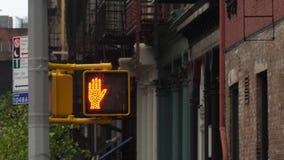 Un paseo no camina firma adentro Manhattan almacen de video