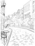Un paseo a través del centro de ciudad de París, distrito famoso de Montmartre libre illustration