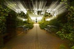 Un passage couvert à faire du jardinage Images stock