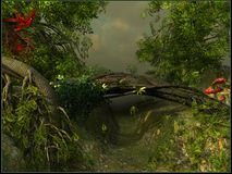 Un passaggio in una giungla Immagini Stock Libere da Diritti