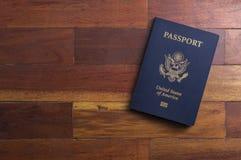Un passaporto americano Fotografia Stock Libera da Diritti
