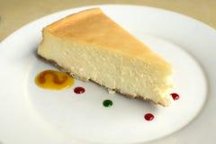 Un pastel de queso Foto de archivo libre de regalías
