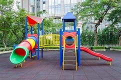 Un patio colorido de los niños Imágenes de archivo libres de regalías