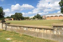 Un patio de escuela en Fredericksburg Tejas Imagen de archivo