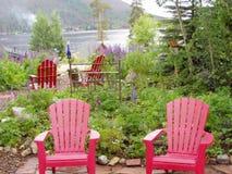 Un patio della Nuova Inghilterra Immagini Stock
