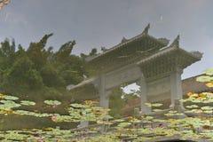 Un pavillon sous l'eau Image stock