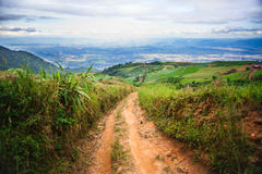 Un paysage de montagne d'idiot de baquet de Phu Photo stock