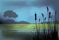 Un paysage de nuit Photo libre de droits