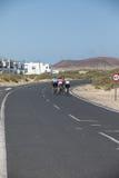 Un paysage gentil pour des cyclistes photos libres de droits