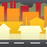 Pollution dans la ville illustration de vecteur