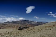 Un paysage volcanique rocailleux montagneux, Ténérife image libre de droits