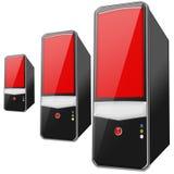 Un PC di 3 colori rossi Immagini Stock