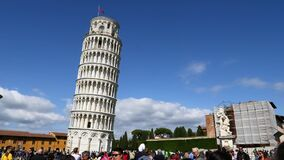 Un PDA tiró de la torre inclinada de Pisa metrajes
