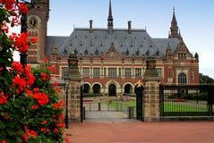 UN peace palace in Hague, Netherlands Stock Photo