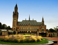 UN Peace palace in Holland stock photo