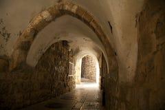 Túnel viejo de Jerusalén foto de archivo libre de regalías