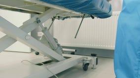 Un pedale alla gastroscopia 4k dello automatico-strato video d archivio