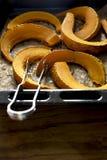Un pedazo de calabaza asada Foto de archivo