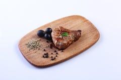 Un pedazo de carne frita imagen de archivo libre de regalías