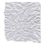Un pedazo de documento rasgado sobre el fondo blanco Fotografía de archivo libre de regalías