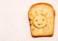Un pedazo de pan de la tostada Fotos de archivo libres de regalías