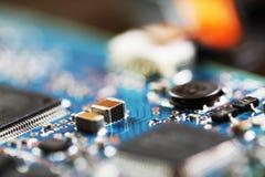 Un pedazo de placa de circuito Imágenes de archivo libres de regalías