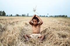 Un peinado antiguo tailandés del muchacho Foto de archivo