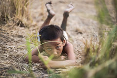 Un peinado antiguo tailandés del muchacho fotografía de archivo libre de regalías