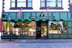 Un Pelham del este, calle del Támesis, Newport, RI Foto de archivo