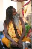 Un pellegrino, Vanarasi, India Fotografia Stock