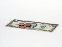Un penny conservato è un penny guadagnato Immagini Stock Libere da Diritti