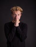 Un pensamiento masculino del adolescente Foto de archivo libre de regalías