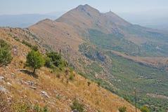 Un pensionante fra il Montenegro e l'Albania Fotografia Stock Libera da Diritti