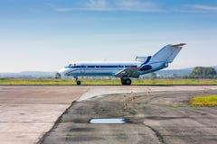 Un pequeño airjet del pasajero Imagenes de archivo
