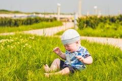 Un pequeño bebé gritador imagen de archivo libre de regalías