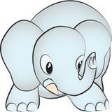 Un pequeño elefante ilustración del vector